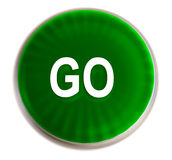 Green go button Royalty Free Stock Photos