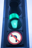 Green go road traffic light stock photography