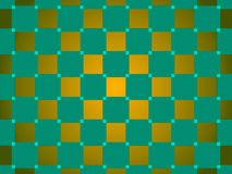 Green and gold abstract background, squares Royalty Free Stock Photography
