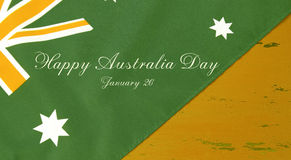 Green and gold Australian flag and sample text Royalty Free Stock Photos