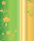 Green and Gold Background Royalty Free Stock Photo