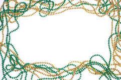 Green and gold bead frame Stock Images