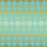 Green gold chinese seamless pattern. With gradient design stock illustration
