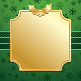 Green and gold christmas Stock Photo