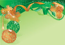 Green and gold christmas Royalty Free Stock Photo