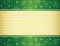 Green and gold Christmas background Stock Image