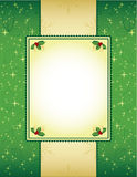 Green and gold Christmas background Royalty Free Stock Photography