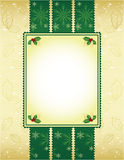 Green and gold Christmas background. Beautiful Green and gold Christmas background Royalty Free Stock Photography