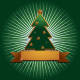 Green and gold christmas background Stock Images