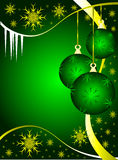 Green & Gold Christmas Balls Royalty Free Stock Images