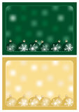Green and gold christmas greetings Stock Photo