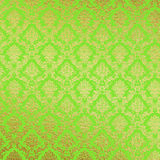 Green and Gold Damask Background Royalty Free Stock Photography