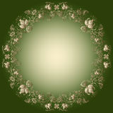 Green-gold easter frame Royalty Free Stock Photo