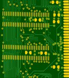 Green and gold electronic board Stock Photo