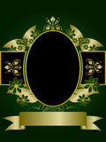 Green and Gold Floral Design Royalty Free Stock Photography