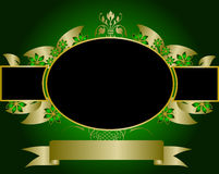 Green and Gold Floral Design Royalty Free Stock Images