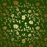 Green and gold floral texture for background - eps Stock Photography