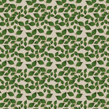 Green and Gold Leaf pattern Stock Image