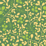 Green And Gold Leaves Seamless Pattern Background Royalty Free Stock Photography