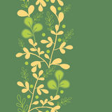 Green And Gold Leaves Vertical Seamless Pattern Royalty Free Stock Photography