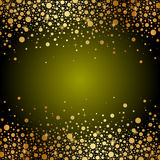 Green and gold luxury background Royalty Free Stock Image