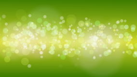 Green Gold Particles Bokeh Background. stock video