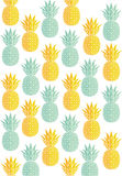 Green and gold pineapple pattern Stock Photo
