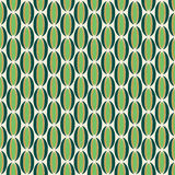 Green and Gold Retro Pattern Stock Photography