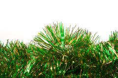 Green and Gold Tinsel Royalty Free Stock Image