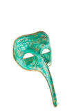 Green and gold venetian  mask Royalty Free Stock Photo