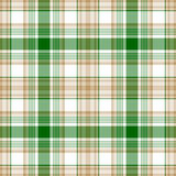 Green gold white check fabric texture seamless pattern. Vector illustration Royalty Free Stock Photo