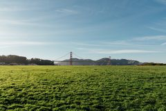 The Green by the Golden Gate Bridge royalty free stock photos