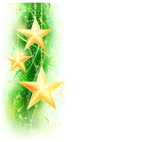 Green golden star border Royalty Free Stock Images