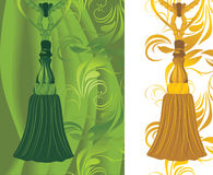 Green and golden tassel Stock Images