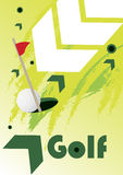 Green golf arrows Royalty Free Stock Photos