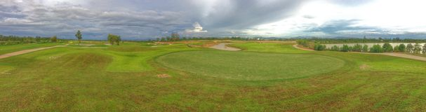 panorana of greenputt  golf   Stock Photo