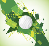 Green golf background. Vector illustration Stock Photo