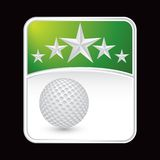 Green golf ball superstar background Stock Photography