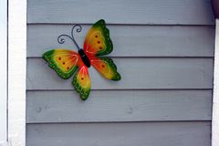 Green and Yellow Butterfly Ornament Royalty Free Stock Photos