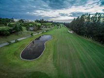 Green Golf Country Club. Aerial View Royalty Free Stock Photography