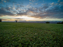 Green Golf Country Club. Grass View Royalty Free Stock Photo
