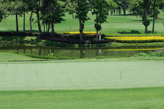 Green golf course Royalty Free Stock Photography