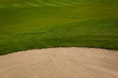 Green golf course in summer time Royalty Free Stock Photos