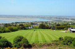 Green golf grass field on Howth peninsula near Dublin Royalty Free Stock Photo