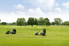 Green Golf grass landscape in Texas stock image