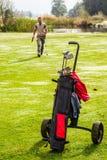 Green golf play Stock Photo