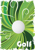 Green golf poster. Abstract background.Vector illustration Royalty Free Stock Photos