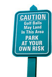 Green golf sign. Stock Image