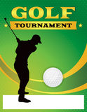 Green Golf Tournament Flyer Illustration Royalty Free Stock Images