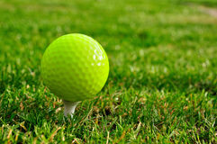 Green golfball Royalty Free Stock Images